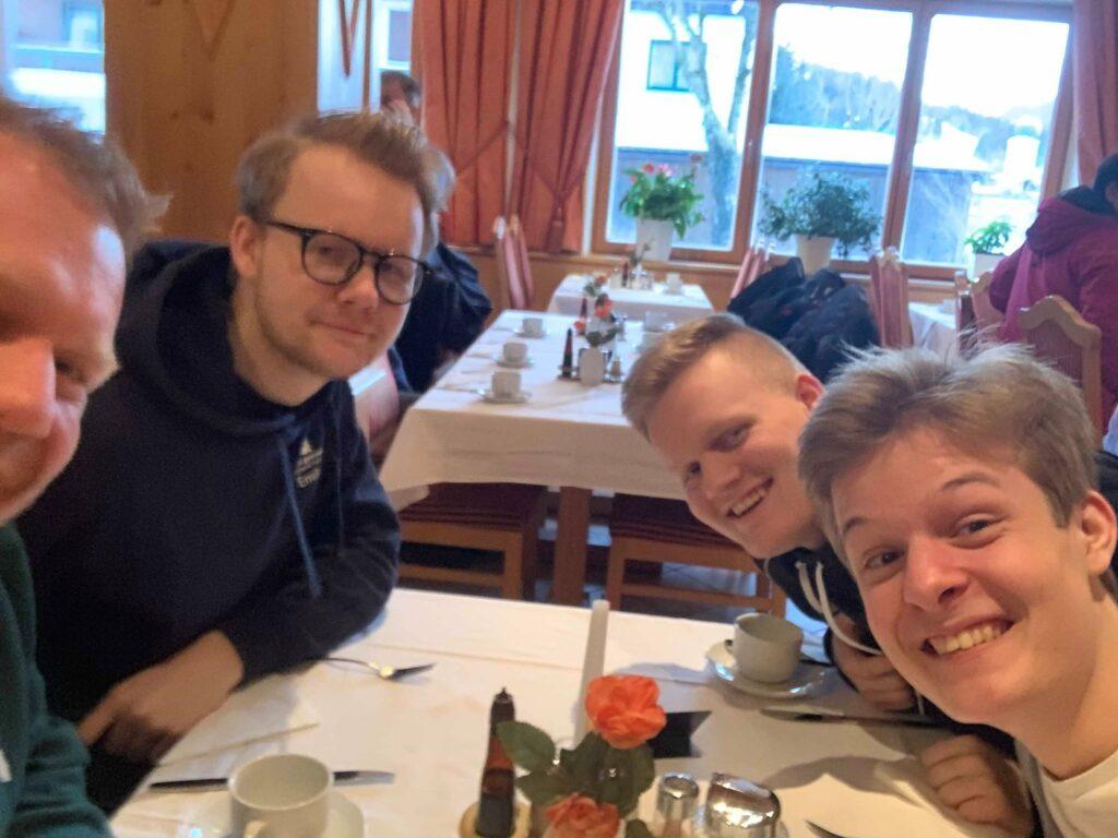 Frederik, Emil, Phillip og Emil kammerat Villiam