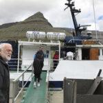 """På vej ombord på rutebåden """"Ritan"""""""