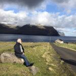 Et lille hvil på Svinø, med en flot udsigt på Færøerne