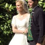 Et flot brudepar.  Sjanna og Jógvan